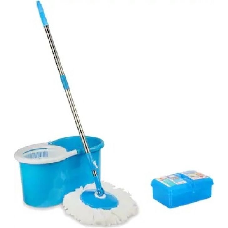 Compact Mop Bucket (Blue) With Wellberg Lunch Box 1500ml Plastic in Blue Colour by Dreamline