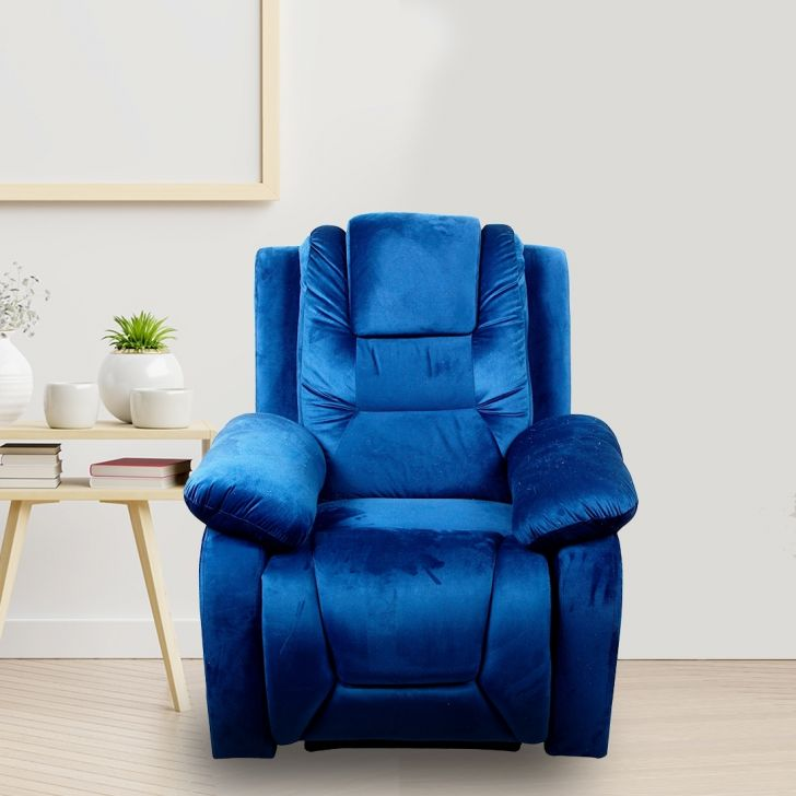 Xcent Fabric Single Seater Recliner in Dark Blue Colour