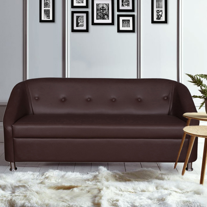 Belfast Miranty Wood Three Seater sofa in Brown Colour by HomeTown