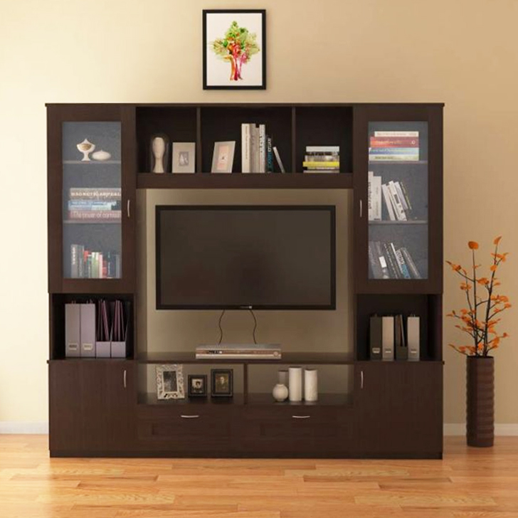 Missouri Engineered Wood TV Unit in Walnut Colour by HomeTown