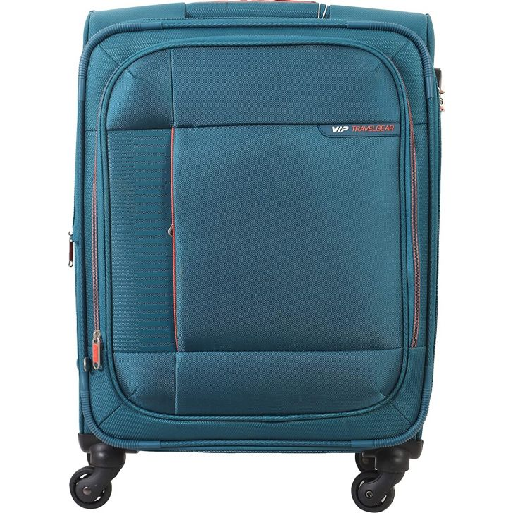 Stratis 4W exp 81 cm Polyester Soft Trolley in Blue Colour by VIP