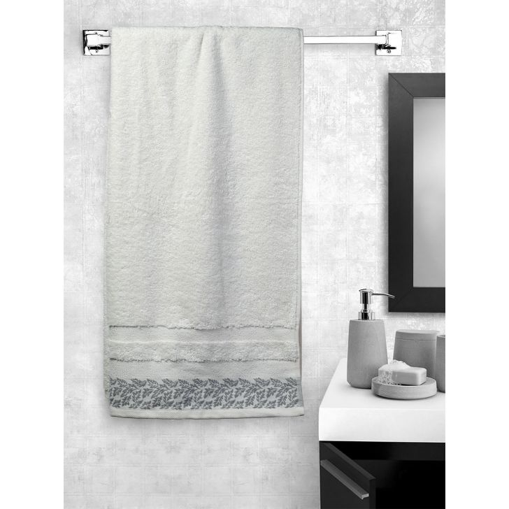 Portico New York Ariana Jacquard : B Bath Towel in Red Color by Portico