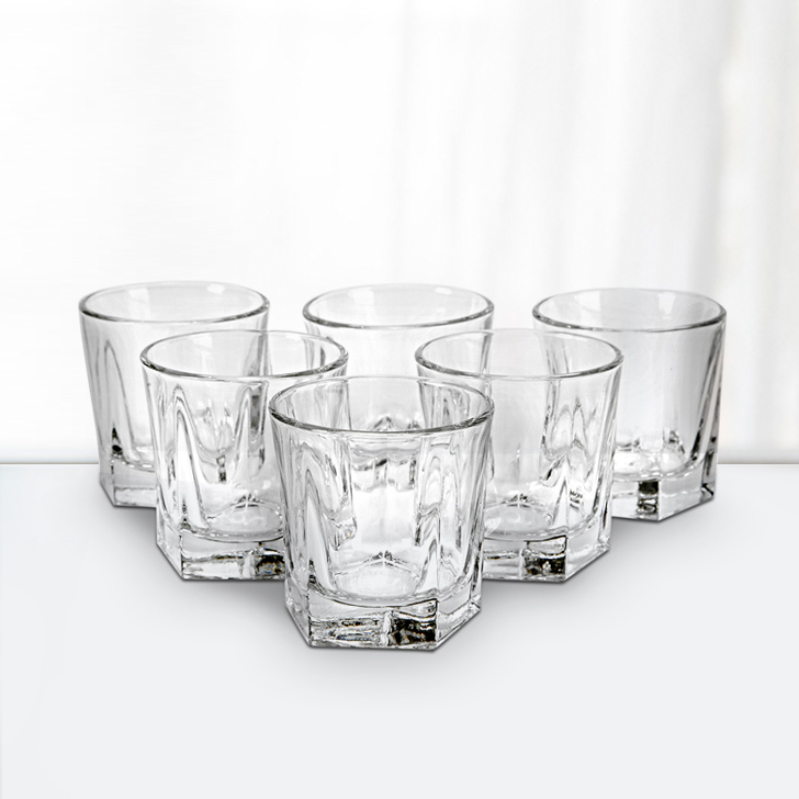 Libbey Birkdale Rocks Glass 6 Pcs Glass Bar Glassware in Transparent Colour by Libbey