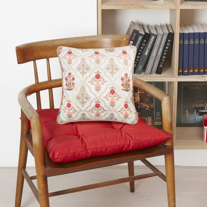 Classique Butta Velvet Cushion Covers in Red Colour by Living Essence
