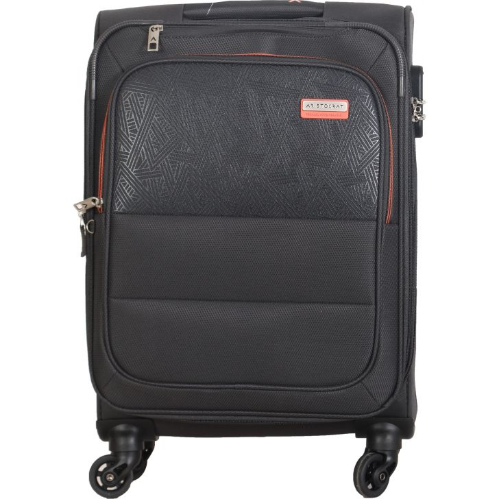 Aristocrat Sorento 4W Expandable Strolly 58 cm Soft Trolley (Grey)