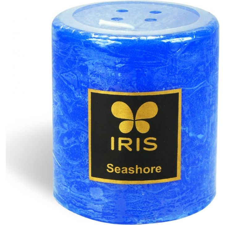 IRIS Smooth Finish Pillar Candle Sea Shore