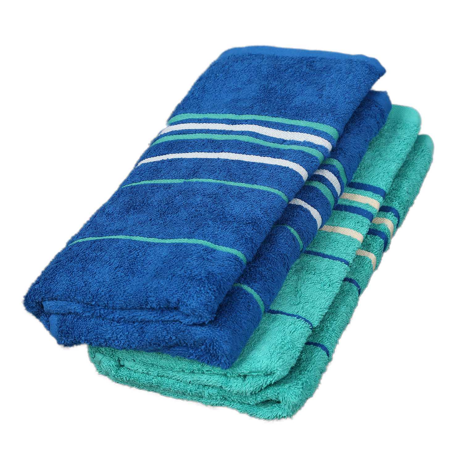 Emilia Bath Towel Teal & Blue Carded Cotton Bath Towels in Teal & Blue Colour by Living Essence