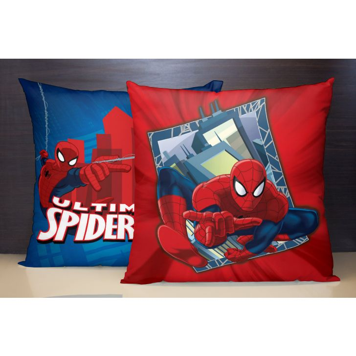 Spaces Marvel Spiderman Reversible Polyester Blue Cushion Cover Set Of 1