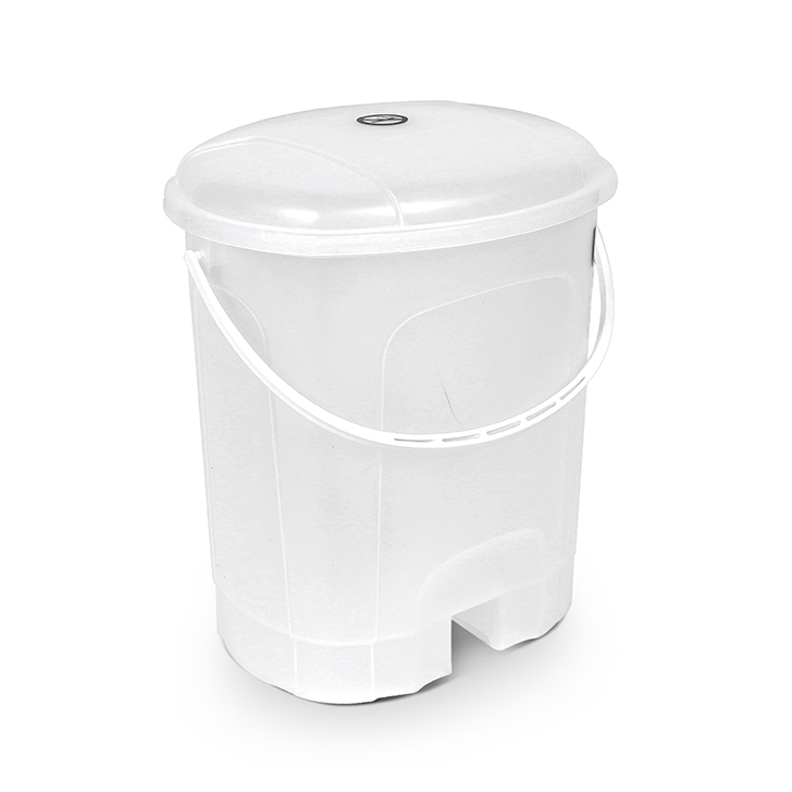 Living Essence Plastic Dustbins in White Colour by Living Essence
