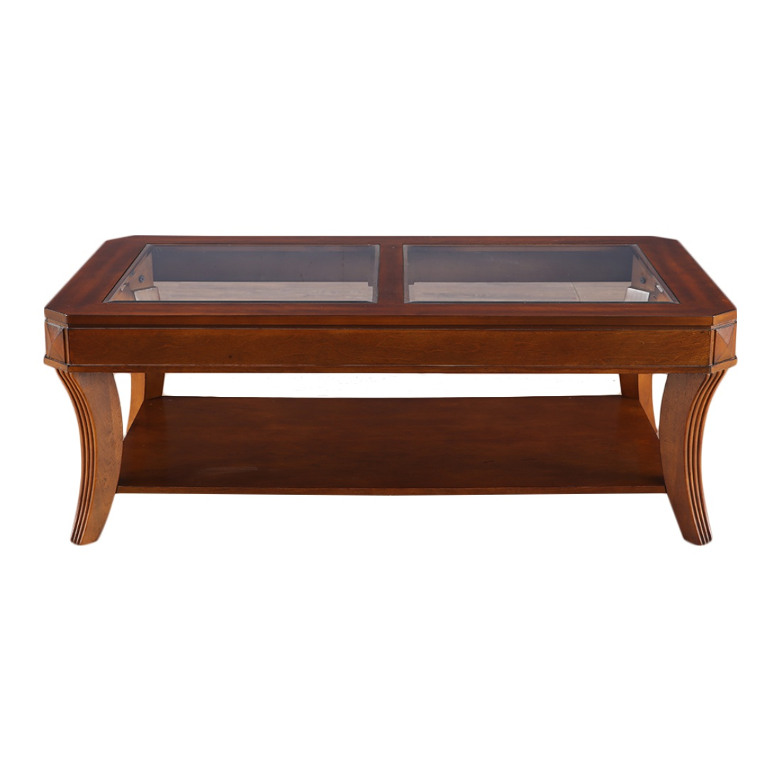 Daffny Glass Top Center Table in Brown Colour by HomeTown