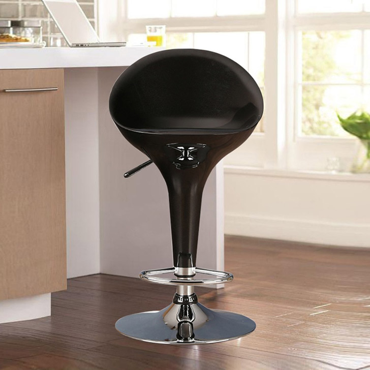 Emily ABS Low Back Bar Stool in Black Colour by HomeTown