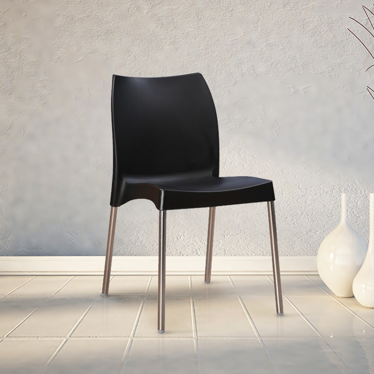 Novella Plastic Office Chair in Black Colour by HomeTown