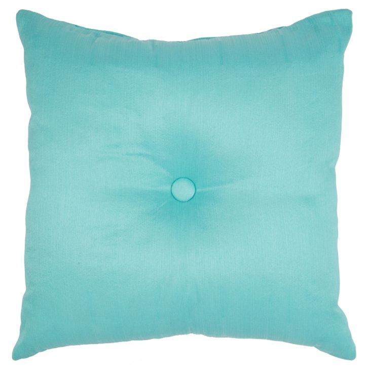 Fiesta Filled Cushion Teal Polyester Filled Cushions in Teal Colour by Living Essence
