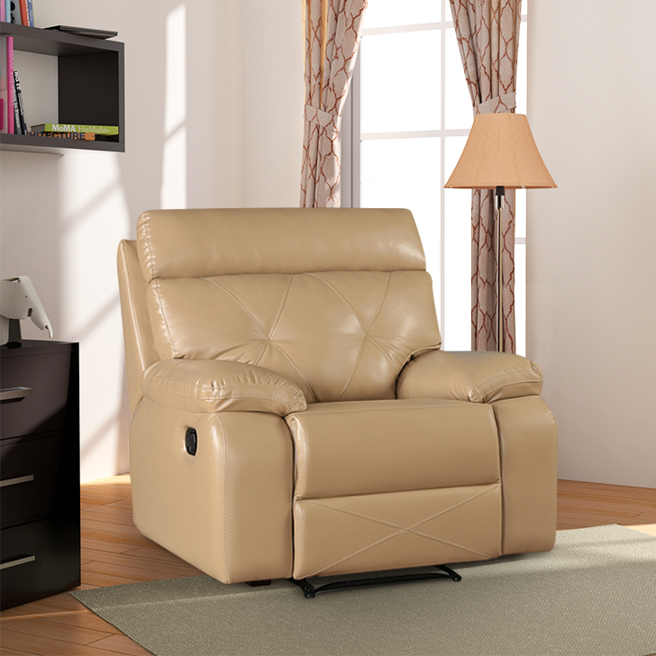 Adrian Single Seater Recliner in Butterscotch Colour by HomeTown