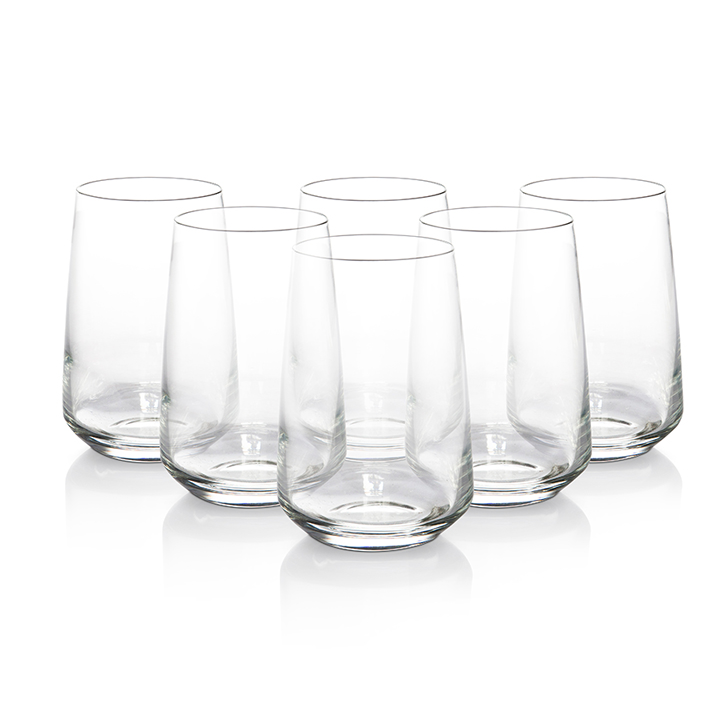 Lyra Lal Dof Glass 345 ml Glass Glasses & Tumblers in Transparent Colour by Lyra