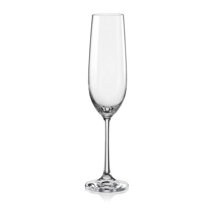 Bohemia Crystal Viola Champagne Flute 190ml set of 6 pcs