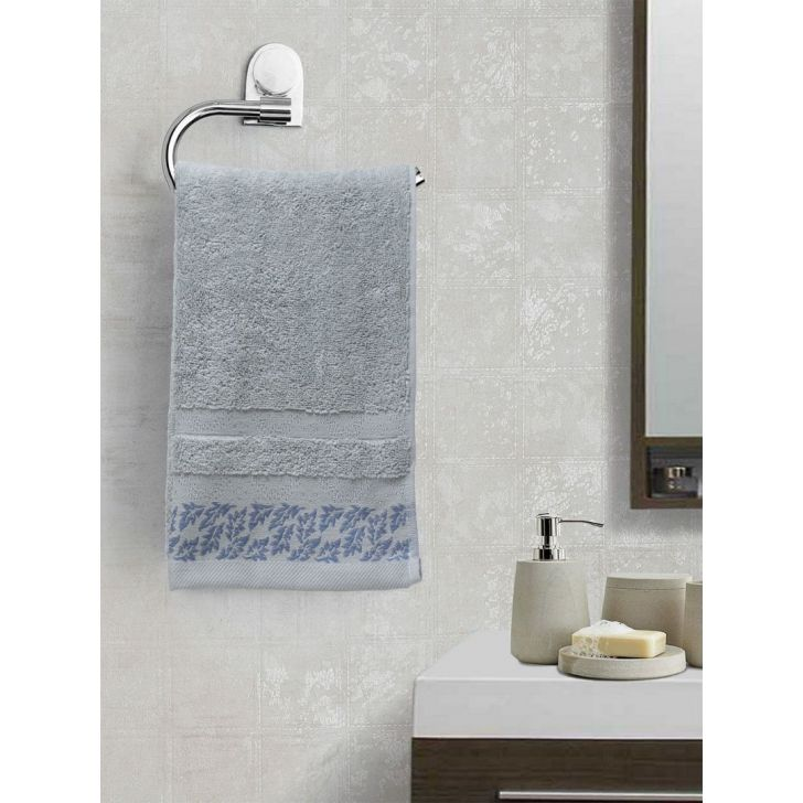Portico New York Ariana Jacquard : B Hand Towel in Ivory Color by Portico