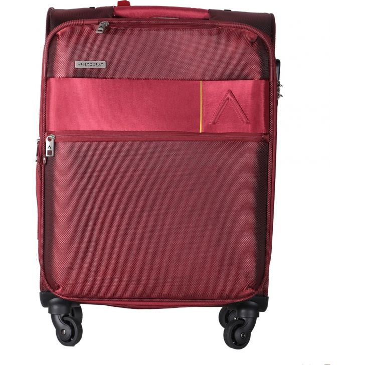 Aristocrat Estate Spinner Soft Trolley 59cm (Red)