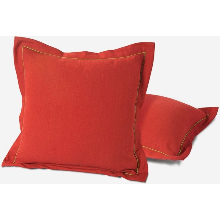 Swayam Cotton Cushion Cover in Maroon Colour