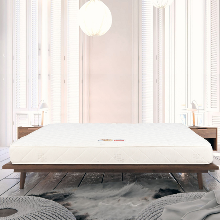 Mattress Comfort Bonnell Spring Queen Bed (78*60*6) in Cream Color by HomeTown