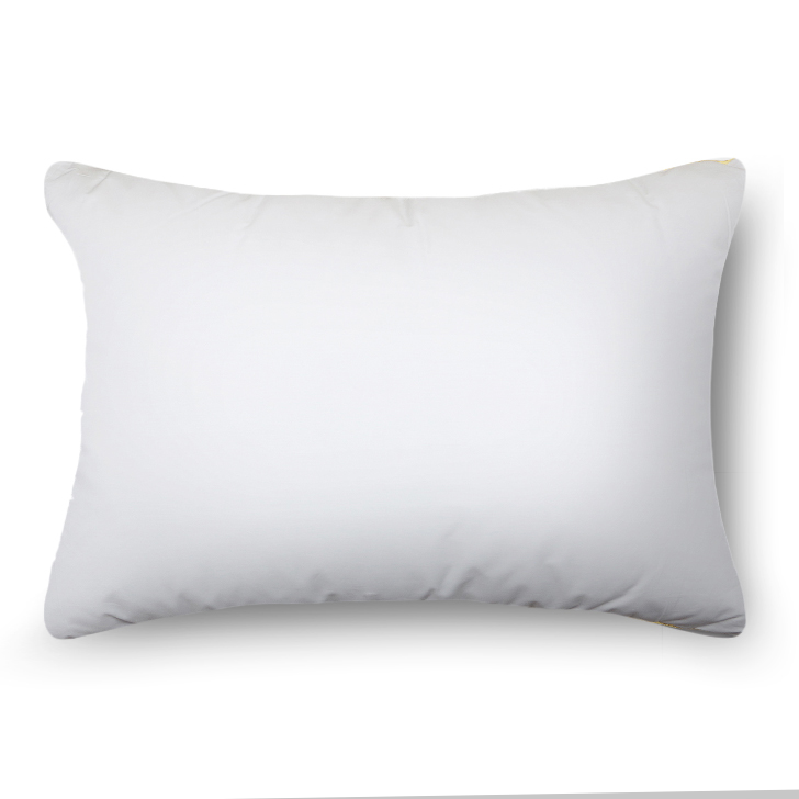 Luxuria Solid Cotton Pillow White Cotton Fibre Pillows in White Colour by Living Essence