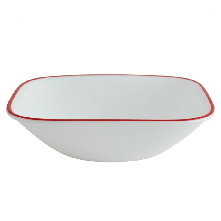 Corelle Veg Des Bowl Kyo Leaves Vitrelle Soup Bowls in White Colour by Corelle