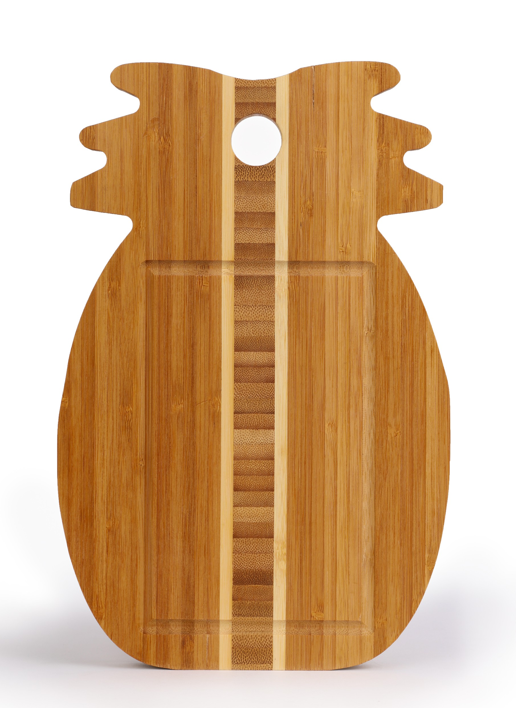 Pineapple Serving Board Wood Trays in Brown Colour by Living Essence