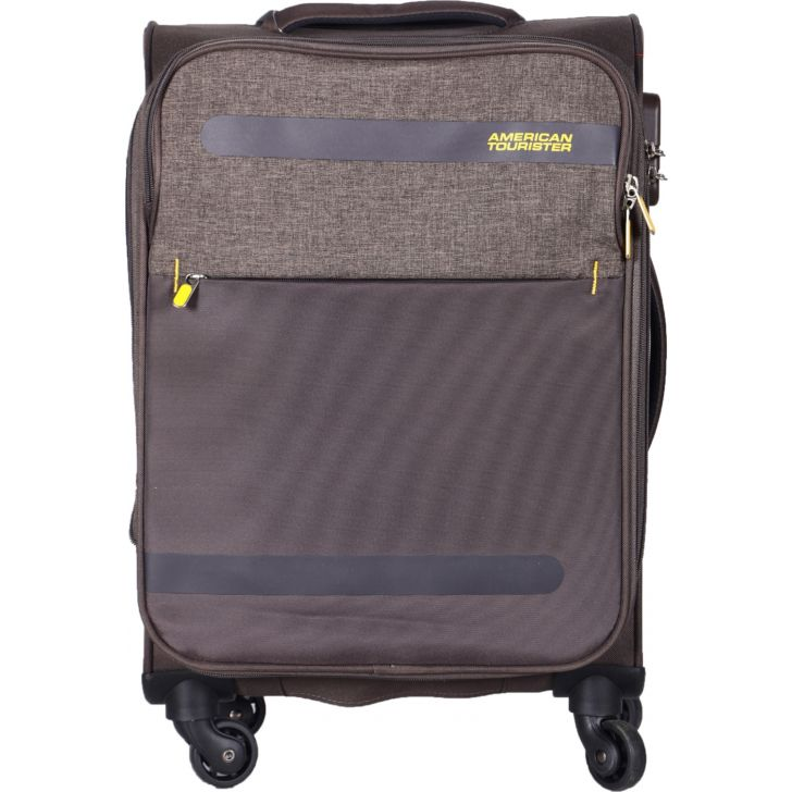 American Tourister Bahamas Spinner Soft Trolley 55 cm (Brown)