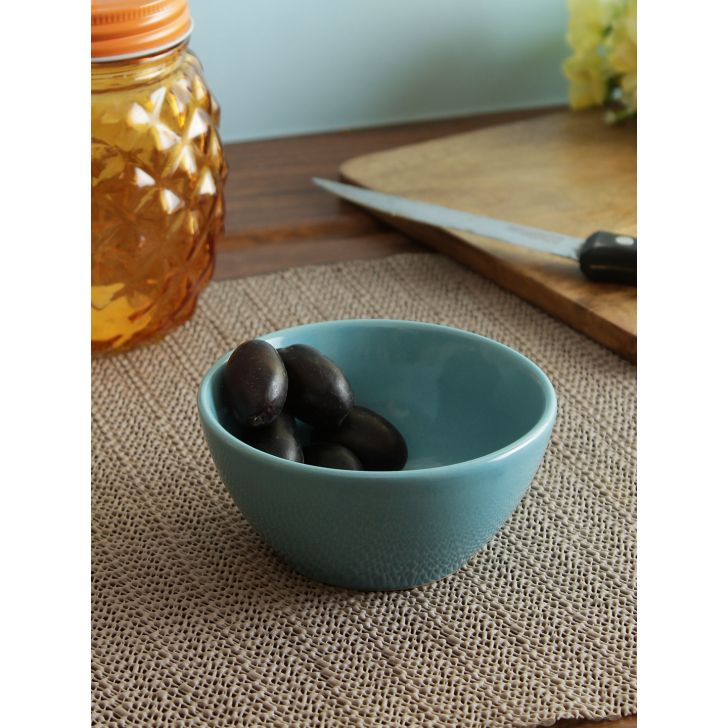 Ceramic Curry Bowl 4 Inch in Blue Colour by Living Essence