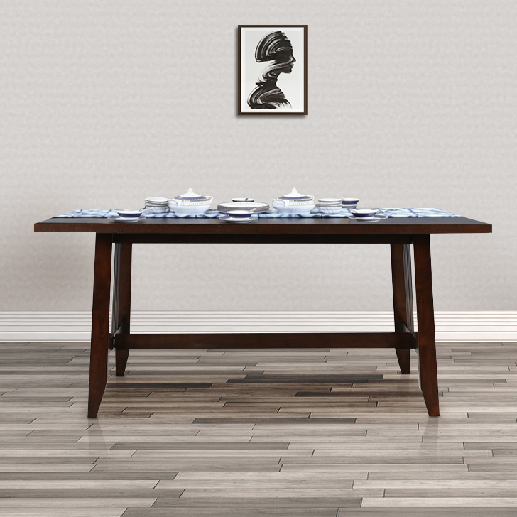 Phacelia Solid Wood Six Seater Dining Table in Cappucino Colour by HomeTown