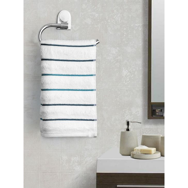 Portico New York Myra Multistripe Hand Towel in Purple Color by Portico
