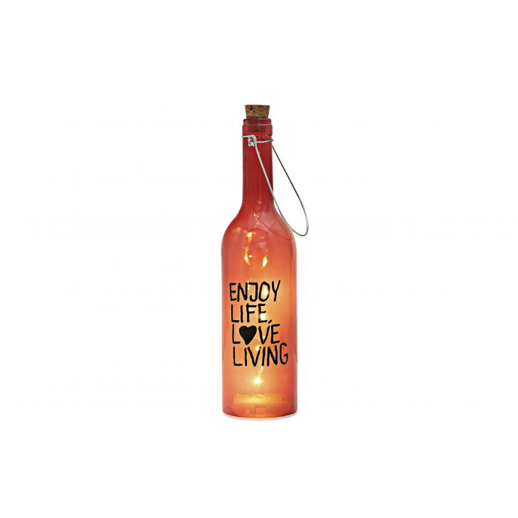 Venus Lettering Decal Bottle Orange Glass Accent Lighting in Red Colour by HomeTown