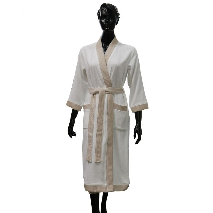 Spaces Swift Dry White Cotton Bath Towel Cotton Bath Robes in White Colour by Spaces