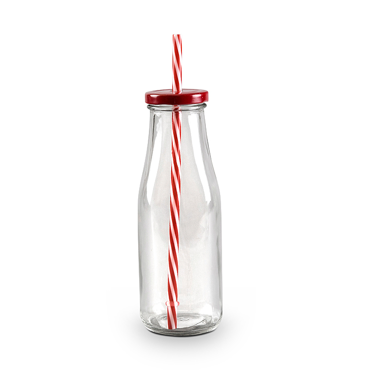 Juice Bottle Red Glass Glass Bottles in Transparent Colour by Living Essence