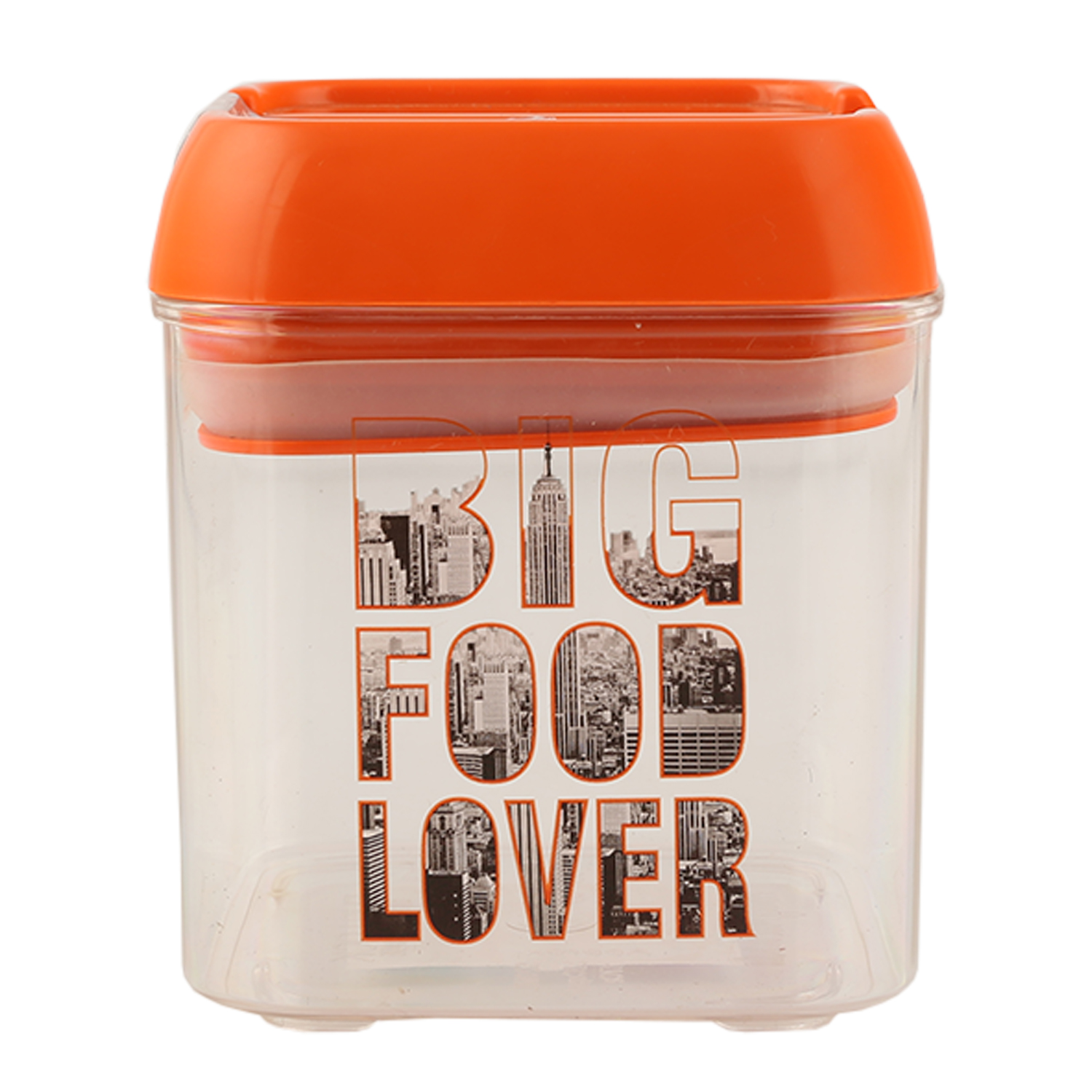 Big Food Lover Small Cont 520 Ml Opalware Containers in Orange Colour by Living Essence
