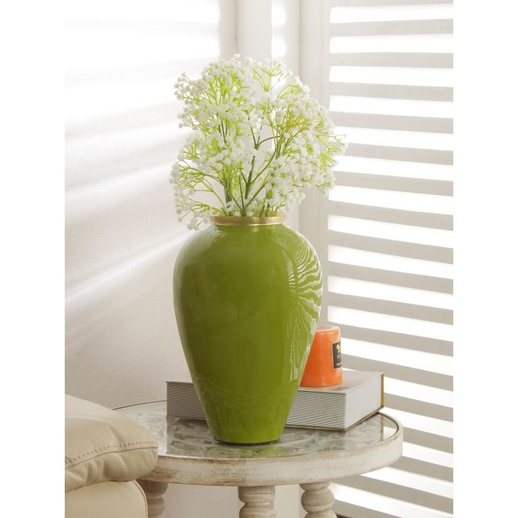 Groot Bamboo Vase in Champaigne Colour by HomeTown