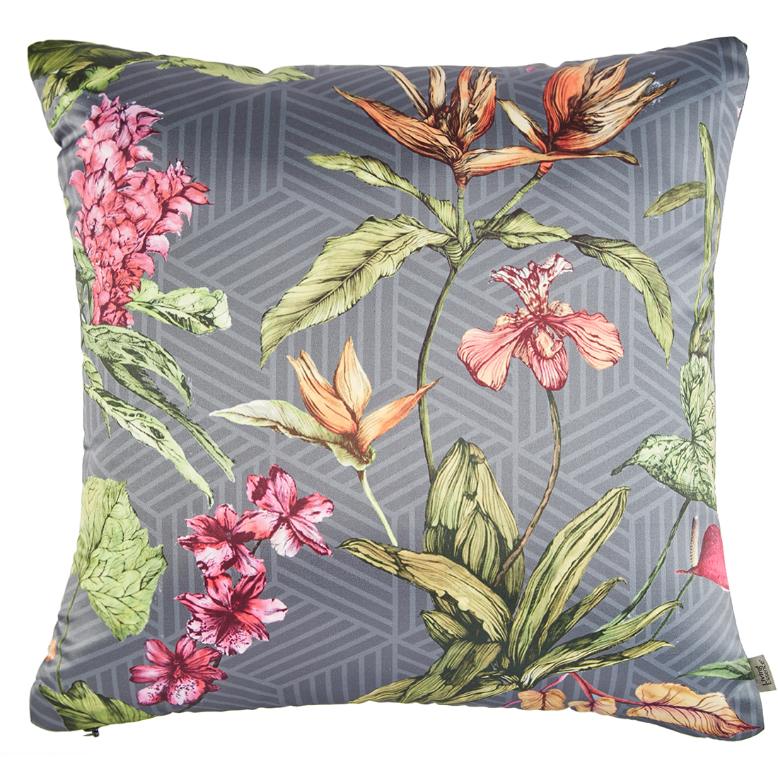 Digital Cushion Cover Paradise Cushion Covers in Poly Satin Colour by Living Essence