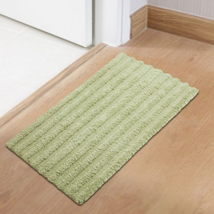 Spaces Polyester Bath Mat in Sage Colour by Spaces