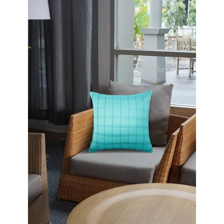 Tropical Safari Charles Polyester Cushion Covers in Turquoise Colour by Living Essence