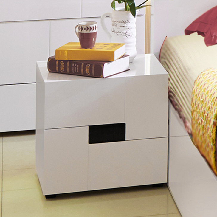 Edwina Engineered Wood Bedside Table in White Colour by HomeTown