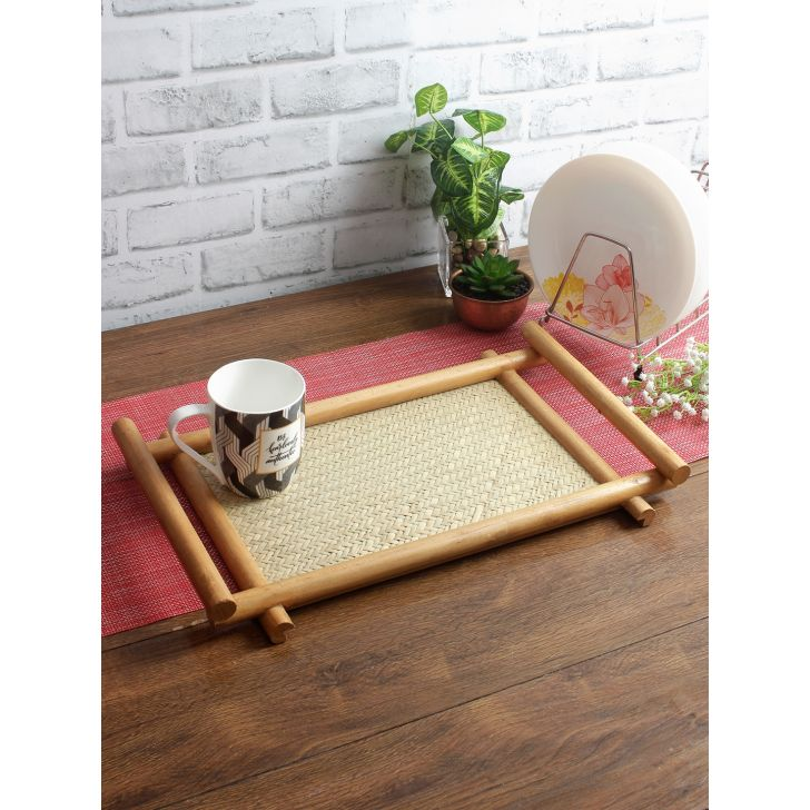 Living Essence Wood Trays in Wooden Colour by Living Essence