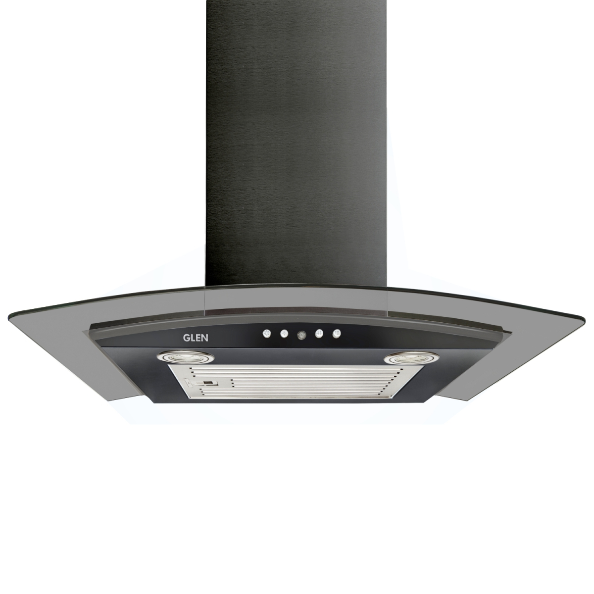 Glen Stainless steel Black Kitchen Chimney 6071 by Glen