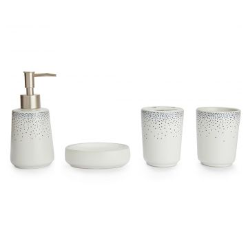Buy Bath Accessories Set Of 4 Pieces Multi Colors Ceramic Bathroom Sets In Multicolour Colour By Living Essence Online At Best Price Hometown