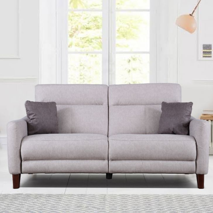 Salerno Fabric Three Seater Sofa in Beige Colour by HomeTown