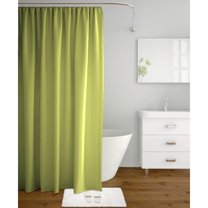 Tangerine Polyester Shower Curtains in Green Colour by Tangerine