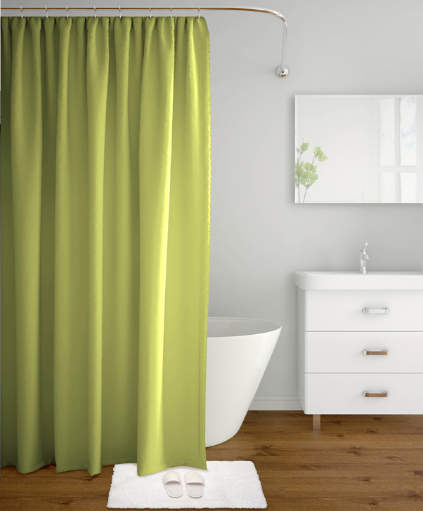 Shower Curtain Aqua Green Polyester Shower Curtains in Green Colour by Tangerine