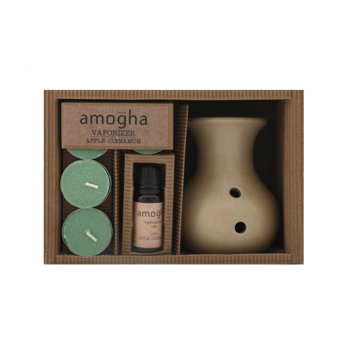 Iris Amogha Vaporizer Apple Cinnamon Ceramic Scented Oil in Apple Colour by HomeTown
