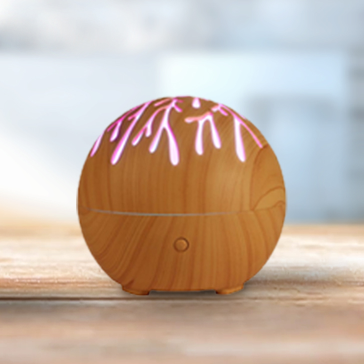 Sansa Dora Diffuser Plastic Diffusers in Wooden Texture Colour by Living Essence