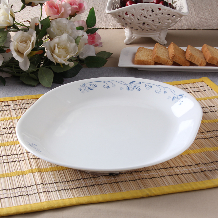 Corelle Provincial Blue Serving Platter Glass Platters in White & Blue Colour by Corelle
