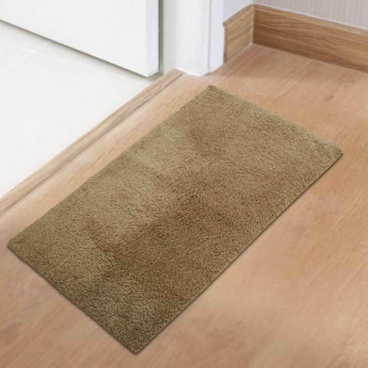 Spaces Polyester Bath Mat in Camel Colour by Spaces